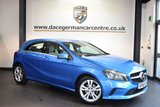 USED 2016 66 MERCEDES-BENZ A CLASS 1.5 A 180 D SPORT EXECUTIVE 5DR AUTO 107 BHP full mercedes service history SOUTH SEA METALLIC BLUE WITH FULL CREAM  LEATHER INTERIOR + FULL MERCEDES SERVICE HISTORY + SATELLITE NAVIGATION + BLUETOOTH + HEATED SEATS + REVERSE CAMERA + RAIN SENSORS + 17 INCH ALLOY WHEELS