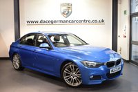 USED 2012 62 BMW 3 SERIES 2.0 320D M SPORT 4DR 181 BHP full service history  ESTORIL METALLIC BLUE WITH FULL BLACK LEATHER INTERIOR + FULL SERVICE HISTORY + BLUETOOTH + LIGHT PACKAGE + CRUISE CONTROL + PARKING SENSORS + RAIN SENSORS + SPORT SEATS + 19 INCH ALLOY WHEELS