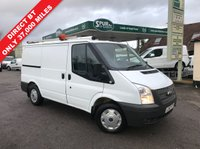 USED 2012 62 FORD TRANSIT 2.2 300 LR 1d 99 BHP Direct BT, Only 37,000 Miles, BT Racking, Two Side Doors, Finance Arranged.