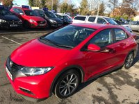 USED 2013 13 HONDA CIVIC 2.2 I-DTEC ES 5d 148 BHP NEW SHAPE IN RED WITH 73000 MILES AND ONLY 1 OWNER WITH A FULL SERVICE HISTORY. APPROVED CARS ARE PLEASED TO OFFER THIS HONDA CIVIC 2.2 I-DTEC ES 5d 148 BHP NEW SHAPE IN RED WITH 73000 MILES AND ONLY HAS HAD 1 PRIVATE OWNER FROM NEW WITH A FULL HONDA SERVICE HISTORY SERVICED AT 13K,24K,36K,51K AND 73K ALL HONDA MAIN DEALER.WITH DIAMOND CUT ALLOYS,AIR CON,REVERSE CAMERA,GREY CLOTH INTERIOR AND MUCH MORE WITH A FULL HONDA MAIN DEALER SERVICE HISTORY A GREAT LOOKING AND DRIVING HONDA.
