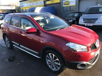 2011 NISSAN QASHQAI+2 1.6 TEKNA IS PLUS 2 5 DOOR 117 BHP IN METALLIC RED WITH 55000 MILES AND 7 SEATS. £8999.00