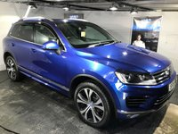 USED 2015 15 VOLKSWAGEN TOUAREG 3.0 V6 TDI BlueMotion Tech 262 R Line 5dr Tip Auto Panoramic opening sunroof     :     Bluetooth     :     Satellite Navigation     :     DAB Radio    :  Full leather upholstery   :   Heated front + steering wheel   :   Remotely operated tailgate   : Front and rear parking sensors   :   Full VW service history