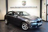 USED 2015 65 BMW 1 SERIES 2.0 118D SE 5DR 147 BHP full service history MINERAL METALLIC GREY WITH ANTHRACITE UPHOLSTERY + FULL SERVICE HISTORY + SATELLITE NAVIGATION + BLUETOOTH + CRUISE CONTROL + DAB RADIO + RAIN SENSORS + PARKING SENSORS + 16 INCH ALLOY WHEELS