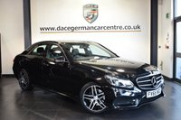 USED 2015 65 MERCEDES-BENZ E CLASS 2.1 E220 BLUETEC AMG NIGHT EDITION 4DR AUTO 174 BHP OBSIDIAN BLACK WITH FULL BLACK LEATHER INTERIOR + FULL SERVICE HISTORY + SATELLITE NAVIGATION + BLUETOOTH + HEATED SPORT SEATS + DAB RADIO + PARKING SENSORS + AMG STYLING PACKAGE + 18 INCH ALLOY WHEELS