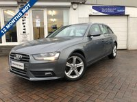 USED 2013 13 AUDI A4 2.0 AVANT TDI SE 5d 134 BHP SUPPLIED WITH 12 MONTHS MOT, LOVELY CAR TO DRIVE
