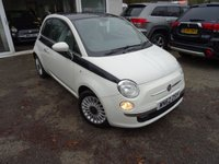 USED 2012 62 FIAT 500 1.2 LOUNGE 3d 69 BHP Full Service History + Serviced by ourselves, MOT until December 2019, One Previous Owner, Great fuel economy! Only £30 Road Tax!