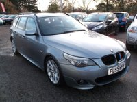 USED 2005 55 BMW 5 SERIES 3.0 535D M SPORT 5d AUTO 269 BHP FULLY LOADED 535d M SPPORT, AUTO WITH FSH, MOTORWAY MILES !!