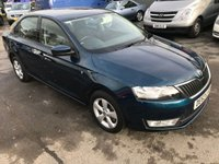 2013 SKODA RAPID 1.2 SE TSI 5d 104 BHP IN METALLIC BLUE WITH 5000 MILES ONLY AND DEMO PLUS ONE OWNER. £7499.00