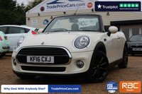 USED 2016 16 MINI CONVERTIBLE 1.5 COOPER 2d 134 BHP
