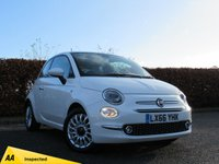 USED 2016 66 FIAT 500 1.2 LOUNGE 3d FULL FIAT SERVICE HISTORY * BLUETOOTH * REAR PARKING SENSORS * HALF LEATHER INTERIOR