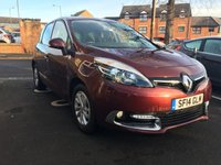 USED 2014 14 RENAULT SCENIC 1.5 DYNAMIQUE TOMTOM ENERGY DCI S/S 5d 110 BHP ONLY 19813 MILES FROM NEW.CHEAP TO RUN, LOW CO2 EMISSIONS(105G/KM), EXCEPTIONALLY LOW ROAD TAX- £20 AND EXCELLENT FUEL ECONOMY! GOOD SPECIFICATION INCLUDING CLIMATE CONTROL, SATELLITE NAVIGATION, HALF LEATHER TRIM, AND ALLOY WHEELS!  ONLY 19813 MILES WITH FULL SERVICE HISTORY!
