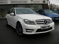 USED 2012 62 MERCEDES-BENZ C-CLASS 3.0 C350 CDI BLUEEFFICIENCY AMG SPORT 5d AUTO 262 BHP Comand Navigation Full Mercedes History. Recent service Parking sensors Full Leather.
