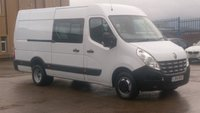 2014 RENAULT MASTER 2.3 MM35 DCI S/R W/V DRW 1d 145 BHP LWB 7 SEATER CREW VAN 1 OWNER SERVICE PRINT OUT / 2 KEYS FREE 12 MONTHS WARRANTY COVER £300 CASH BACK IN DECEMBER  £9990.00