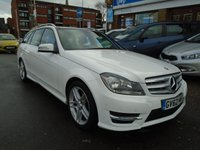 USED 2013 62 MERCEDES-BENZ C CLASS 2.1 C220 CDI BLUEEFFICIENCY AMG SPORT 5d AUTO 168 BHP