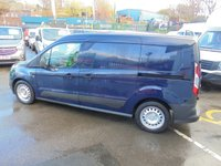 2014 FORD TRANSIT CONNECT 1.6 TDCI DIESEL 210 LONG WHEEL BASE, FULL FORD SERVICE HISTORY, AIR CONDITIONING, REVERSE SENSORS, FULLY SHELVED IN REAR, TWIN SIDE LOADING DOORS, MOT TILL 23 - 05 - 2019  £SOLD
