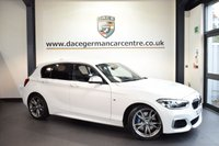 USED 2017 17 BMW 1 SERIES 3.0 M140I 5DR 335 BHP full bmw service history ALPINE WHITE WITH FULL LEATHER INTERIOR + FULL BMW SERVICE HISTORY + SATELLITE NAVIGATION + BLUETOOTH + DAB RADIO + LIGHT PACKAGE + CRUISE CONTROL +RAIN SENSORS + PARKING SENSORS + 18 INCH ALLOY WHEELS