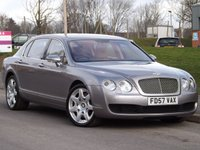 2007 BENTLEY CONTINENTAL FLYING SPUR 6.0 FLYING SPUR 5 SEATS 4d AUTO 550 BHP £28995.00