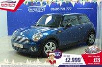 2009 MINI HATCH ONE 1.4 ONE 3d 94 BHP £2999.00