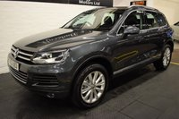 USED 2013 63 VOLKSWAGEN TOUAREG 3.0 V6 SE TDI BLUEMOTION TECHNOLOGY 5d AUTO 202 BHP STUNNING CONDITION THROUGHOUT - 7 STAMPS TO 109K MILES - LEATHER - NAV - HEATED SEATS