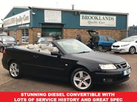 USED 2007 SAAB 9-3 Convertible 1.9 LINEAR TID Jet Black 1/2 Leather 150 BHP Stunning Diesel Convertible with Lots of Service History and Great Spec