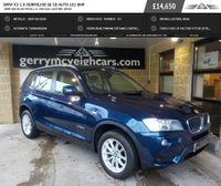 USED 2014 14 BMW X3 2.0 XDRIVE20D SE 5d AUTO 181 BHP Deep Sea Blue Metallic; Nevada leather, Beige