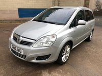 USED 2010 10 VAUXHALL ZAFIRA 1.9 ELITE CDTI 5d AUTO 148 BHP 2 PREVIOUS KEEPERS + FULL LEATHER TRIM + HEATED SEATS + PARKING SENSORS +  FULL YEAR MOT +