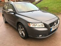 USED 2011 11 VOLVO V50 1.6 DRIVE SE EDITION S/S 5d 113 BHP FULL SERVICE RECORD + FULL YEAR MOT +  FULL LEATHER TRIM +  PARKING AID + BLUETOOTH +