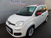 USED 2015 15 FIAT PANDA 1.2 EASY 5 DOOR, WHITE, LOW MILEAGE AIR CON, BLUETOOTH