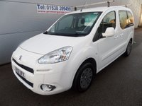 USED 2012 12 PEUGEOT PARTNER 1.6 TEPEE S HDI 5d 75 BHP, WHITE  ONLY 20000 MILES,