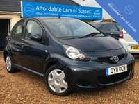 USED 2011 11 TOYOTA AYGO 1.0 VVT-I ICE 5d 68 BHP Only £20 Annual Road Tax
