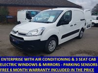 2013 CITROEN BERLINGO 3 SEAT ENTERPRISE WITH AIR CON AND BLUETOOTH £4695.00