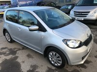 2015 SKODA CITIGO 1.0 SE 12V 5 DOOR AUTO 59 BHP  IN SILVER WITH ONLY 6800 MILES IN IMMACULATE CONDITION. £6999.00