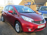 USED 2014 64 NISSAN NOTE 1.2 ACENTA PREMIUM 5d 80 BHP SATELLITE NAVIGATION - BLUETOOTH INTERFACE