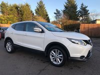 2014 NISSAN QASHQAI 1.6 DCI ACENTA PREMIUM 5d 130 BHP WITH SAT NAV/CAMERA, PAN ROOF AND LOW MILEAGE £11500.00