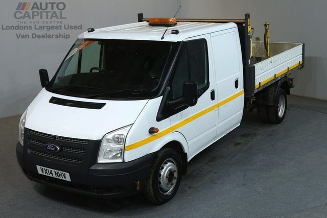 2014 14 FORD TRANSIT 2.2 350 124 BHP LWB D/CAB 3 SEATER COMBI TIPPER REAR BED LENGTH 9 FOOT 4 INCH
