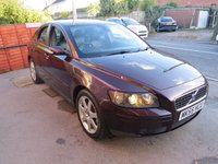 USED 2005 55 VOLVO S40 2.4 SE 4d 170 BHP DEALER PX TO CLEAR LONG MOT**- GOOD EXAMPLE. A/C, LEATHER ETC.