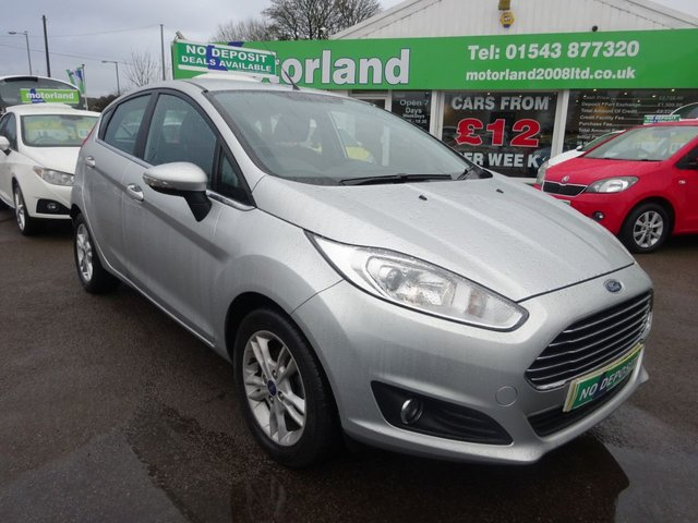 USED 2015 15 FORD FIESTA 1.2 ZETEC 5d 81 BHP £0 DEPOSIT FINANCE DEAL AVAILABLE....CALL TODAY ON 01543 877320