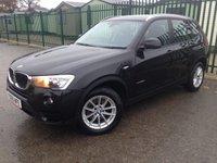 2015 BMW X3 2.0 XDRIVE20D SE 5d 188 BHP SAT NAV LEATHER ONE OWNER FSH £15490.00