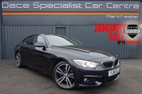 "USED 2016 16 BMW 4 SERIES GRAN COUPE 2.0 418D M SPORT GRAN COUPE 4d AUTO 148 BHP FINISHED IN CARBON BLACK METALLIC, BLACK LEATHER, HEATED SEATS, PROFESSIONAL NAVIGATION, M SPORT + PACKAGE, INTERIOR COMFORT PACK, 19"" ALLOY WHEELS, HARMAN KARDON, SUN PROTECTION GLASS, M SPORT BRAKING SYSTEM, ELECTRIC FOLDING MIRRORS"