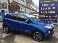 USED 2015 65 FORD ECOSPORT 1.5 TITANIUM 5d AUTO 110 BHP, 1 Owner, Only 15000 miles ***APPROVED DEALER FOR CAR FINANCE247 AND ZUTO  ***