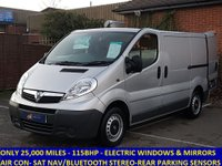 2014 VAUXHALL VIVARO 2700 CDTI 115 WITH ONLY 25,000 MILES, AIR CON AND BUILT IN SAT NAV  £SOLD
