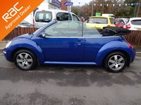 USED 2006 06 VOLKSWAGEN BEETLE 1.6 LUNA 8V 2dr CONVERTIBLE *LOOK*LOW MILEAGE*ELECTRIC ROOF*ALLOYS*NEW MOT*
