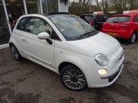 USED 2015 15 FIAT 500 1.2 CONVERTIBLE LOUNGE 3d 69 BHP Comprehensive Service History, Serviced by ourselves, One Lady Owner from new, Minimum 8 months MOT, Convertible, Great fuel economy! ONLY £30 Road Tax!
