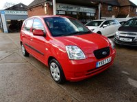 USED 2007 57 KIA PICANTO 1.1 LS 5d 65 BHP TWO KEYS,GOOD HISTORY,ELECTRIC WINDOWS,IPOD LEAD