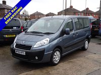 USED 2013 63 PEUGEOT EXPERT TEPEE 2.0 HDI 128 BHP WHEELCHAIR ACCESS WAV 5 SEATS + WHEELCHAIR ACCESSIBLE VEHICLE