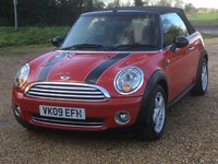 USED 2009 09 MINI CONVERTIBLE 1.6 COOPER 2d 120 BHP