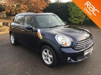 USED 2012 62 MINI COUNTRYMAN 1.6 ONE 5d 98 BHP Family Size Mini, Parking Sensors, Alloy Wheels