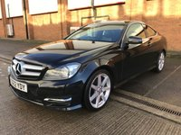 USED 2012 62 MERCEDES-BENZ C CLASS C180 BLUEEFFICIENCY AMG SPORT 2d AUTO 154 BHP