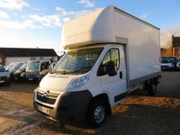 2014 CITROEN RELAY 2.2 35 L3 LUTON HDI 129 BHP ONLY 4818 MILES FROM NEW £14995.00