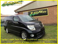 2008 NISSAN ELGRAND  Highway Star 3.5, Phase 3 Automatic,8 Seats, Twin Power Door, Pearl Black £10000.00